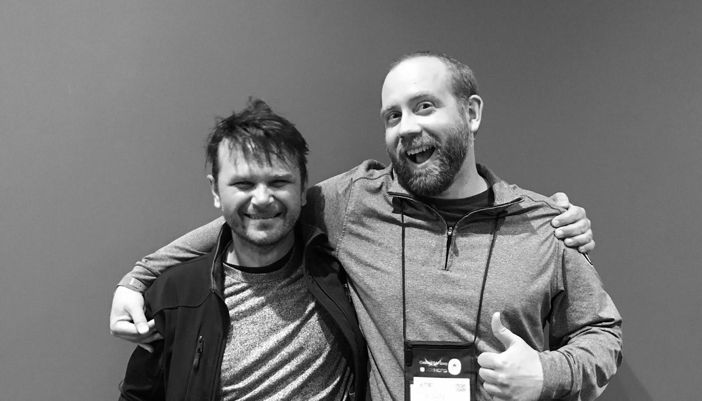 Mark Borowski of Nonsuch and Brian Westcott of Barn Hammer