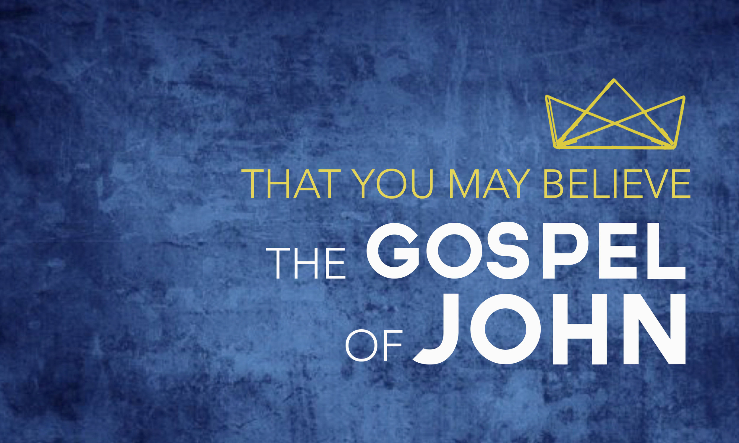 "The Apostle John wrote ""that we may believe that Jesus is the Christ, the Son of God, and that by believing you may have life in his name"" (John 20.31). This series covers John Chapters 1-12."