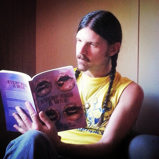 Seth Avett reading my book! Thank you to the Avetts and Jeremy Okai Davis, the amazing artist behind the EKAW cover art!