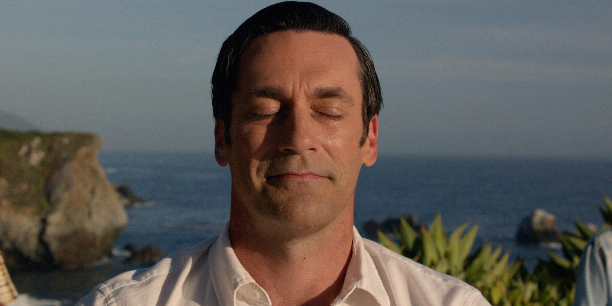don draper, mad men, finale, final episode, coca-cola, coke, meditation
