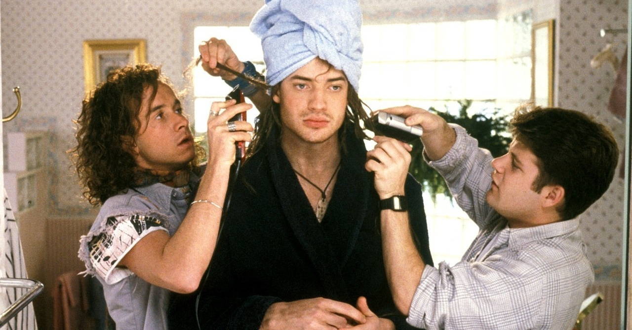 encino man, podcast, movie, pauly shore, brendan fraser