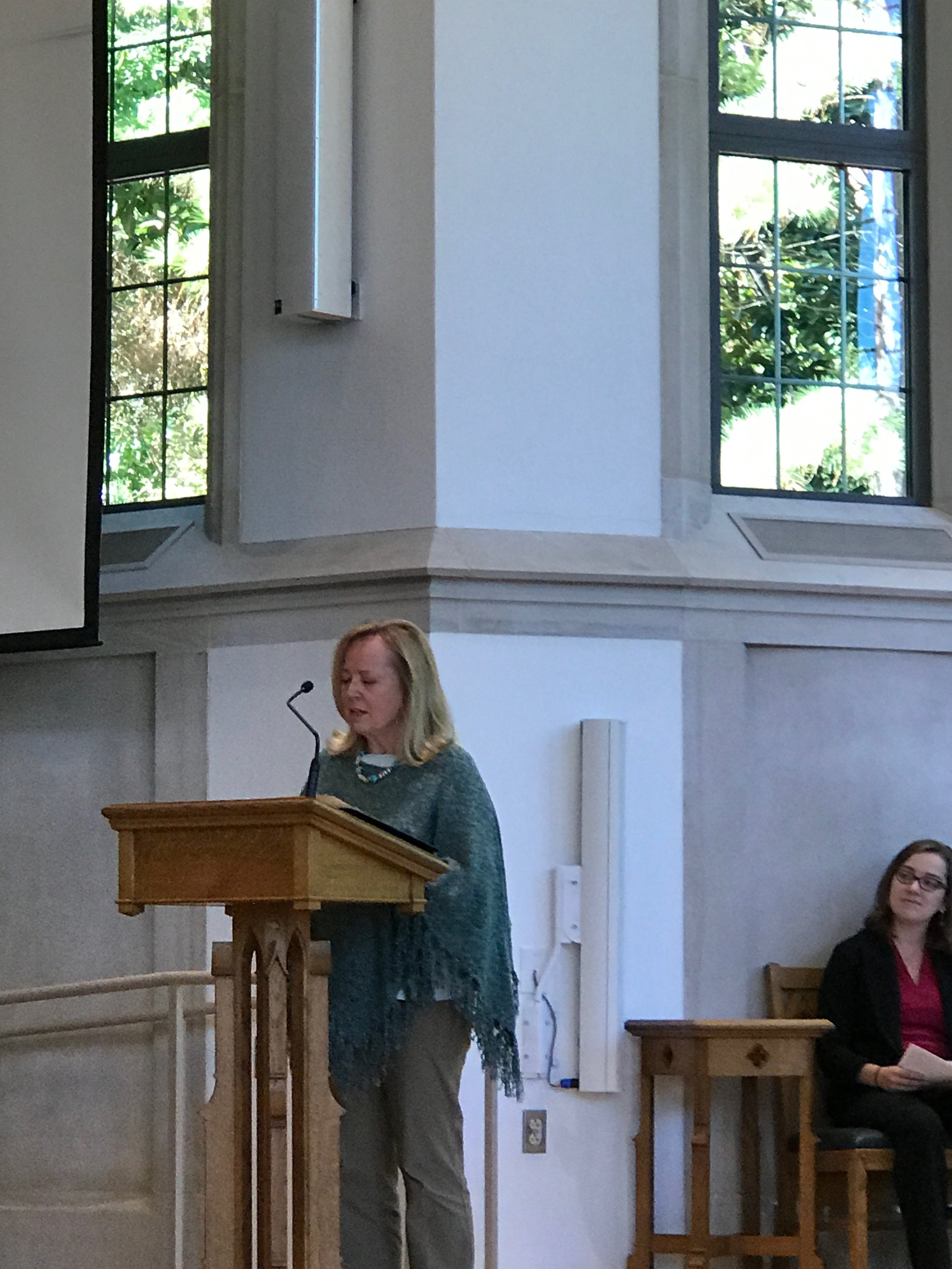 NORTH CAROLINA FILM TOUR 2017    Duke Divinity School Dean Elaine Heath acknowledging the school's racist segregation policies that kept Gil from attending the school in the 1950's.