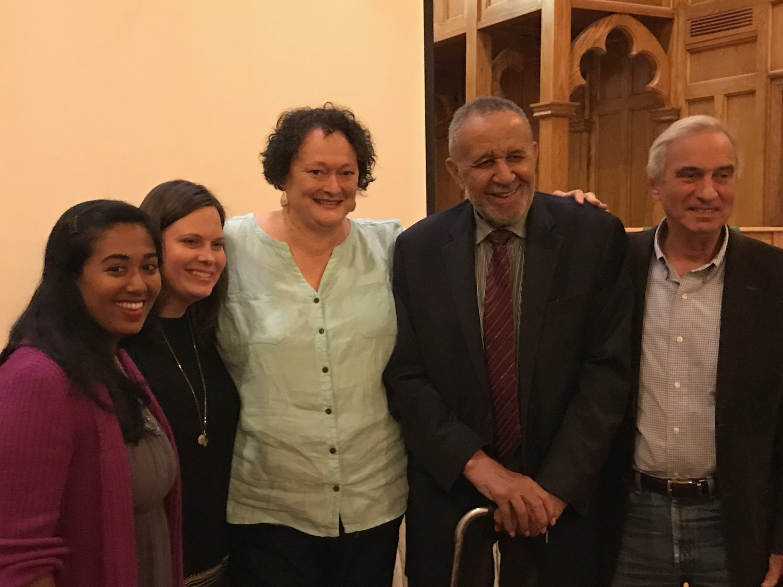 NORTH CAROLINA FILM TOUR 2017    Raleigh film screening, with panelist Manju Rajendran, moderator the Rev. Liz Roberts, and Jimmy Creech.
