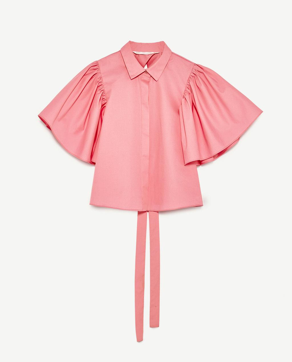 Zara Shirt w/ Back Tie