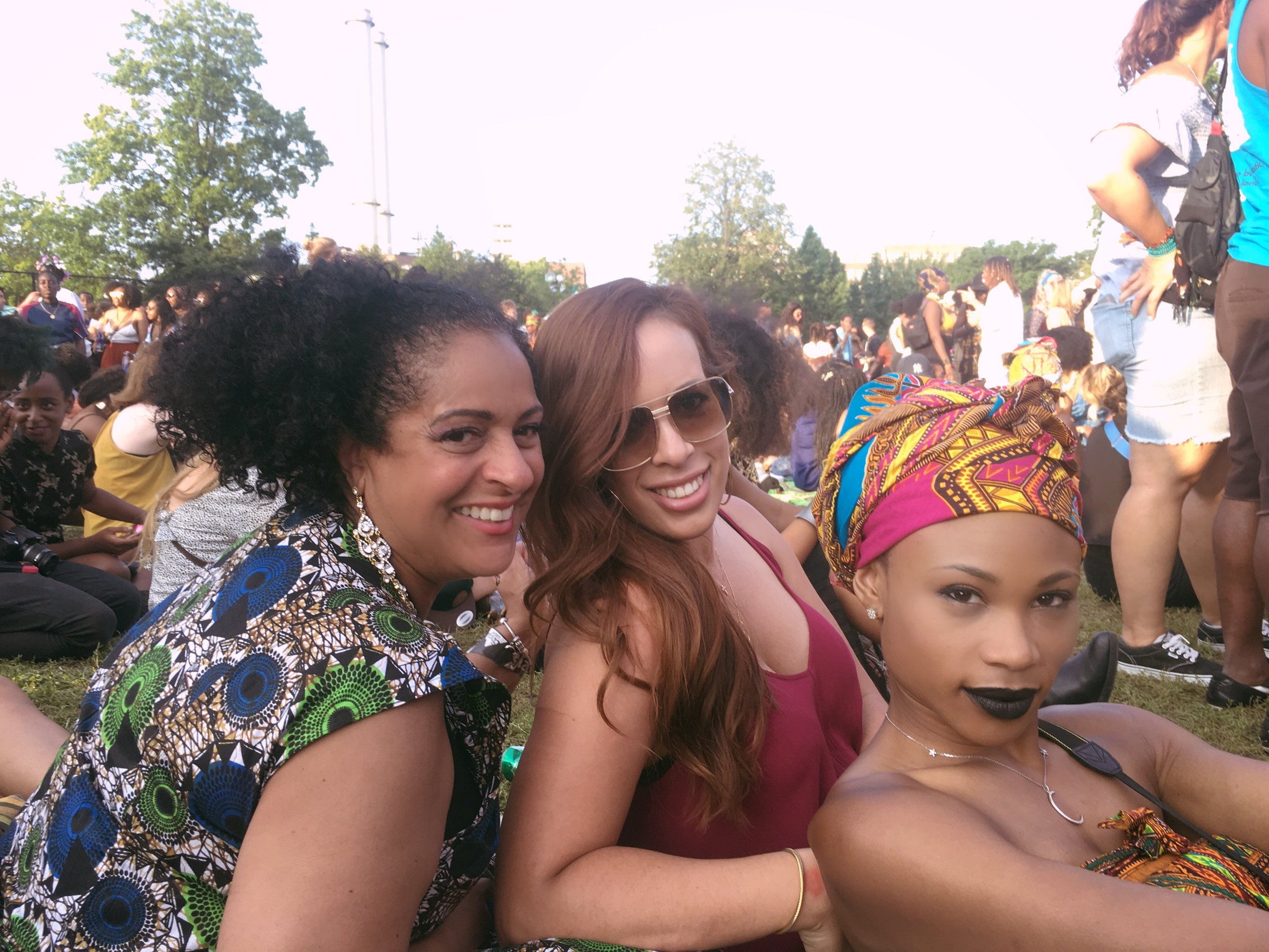 A beautiful day with my Queens