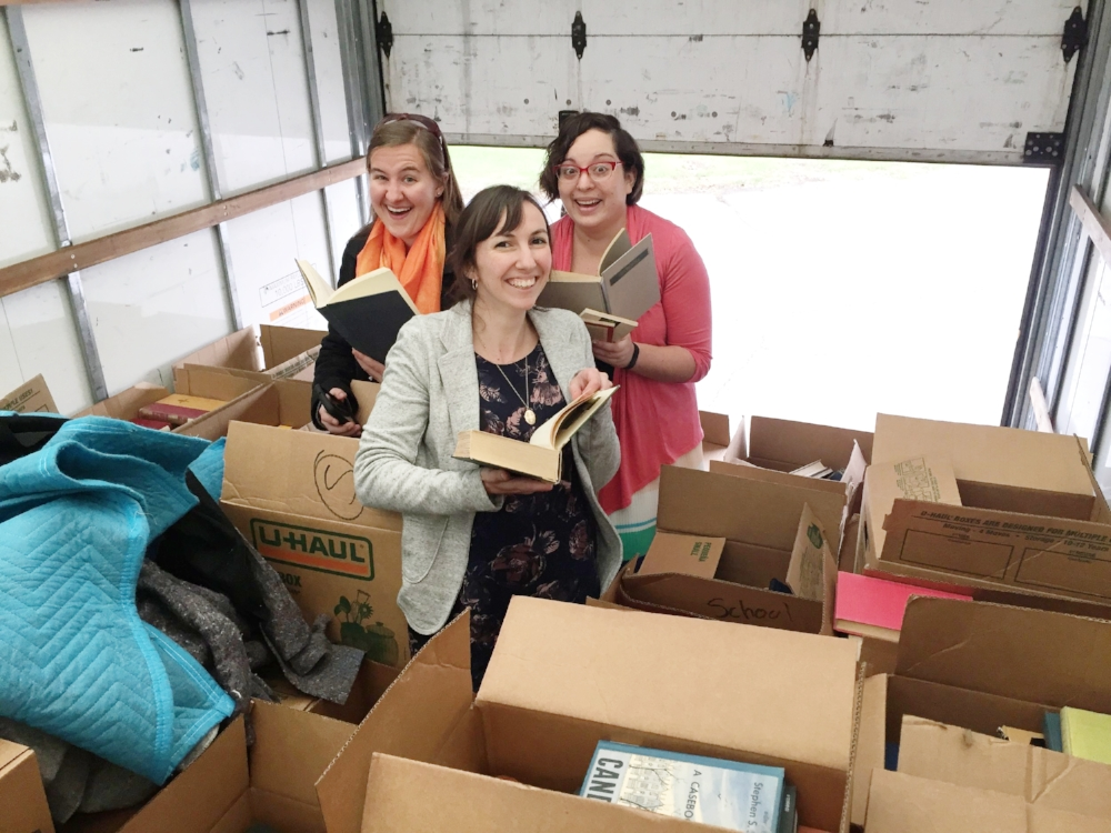 Seven Oaks teachers couldn't wait to begin looking through the boxes.