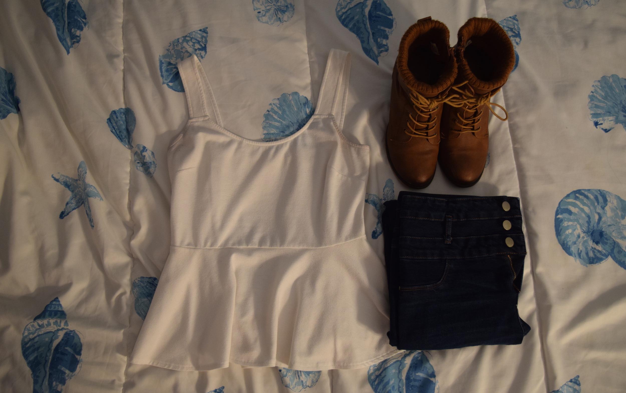 Shirt  (similar).  Jeans . Boots (no longer being sold at  Call It Spring . NOOOOOO!!!).