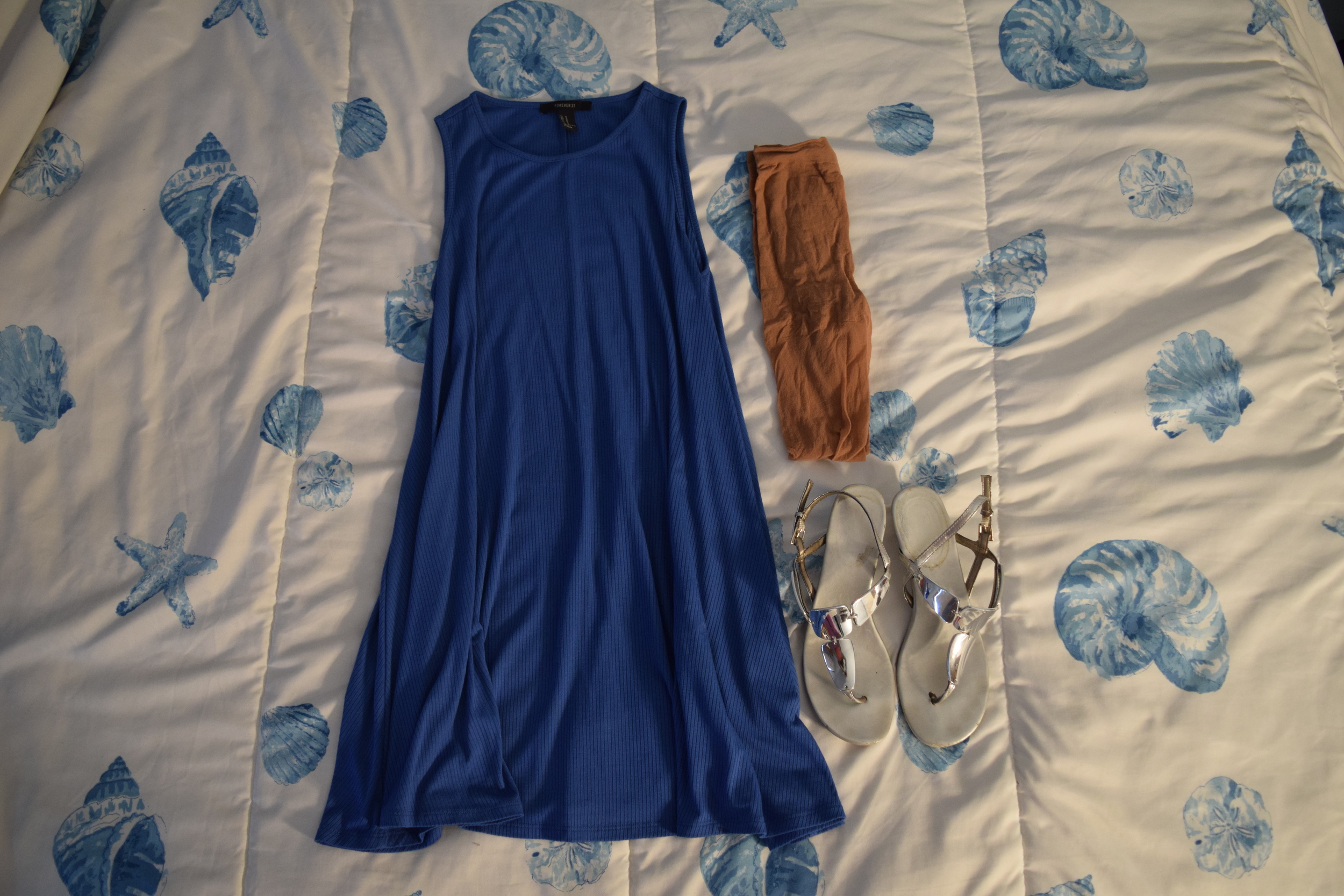 Dress  (similar). Shoes (no longer being sold at  Payless ).  Stockings .