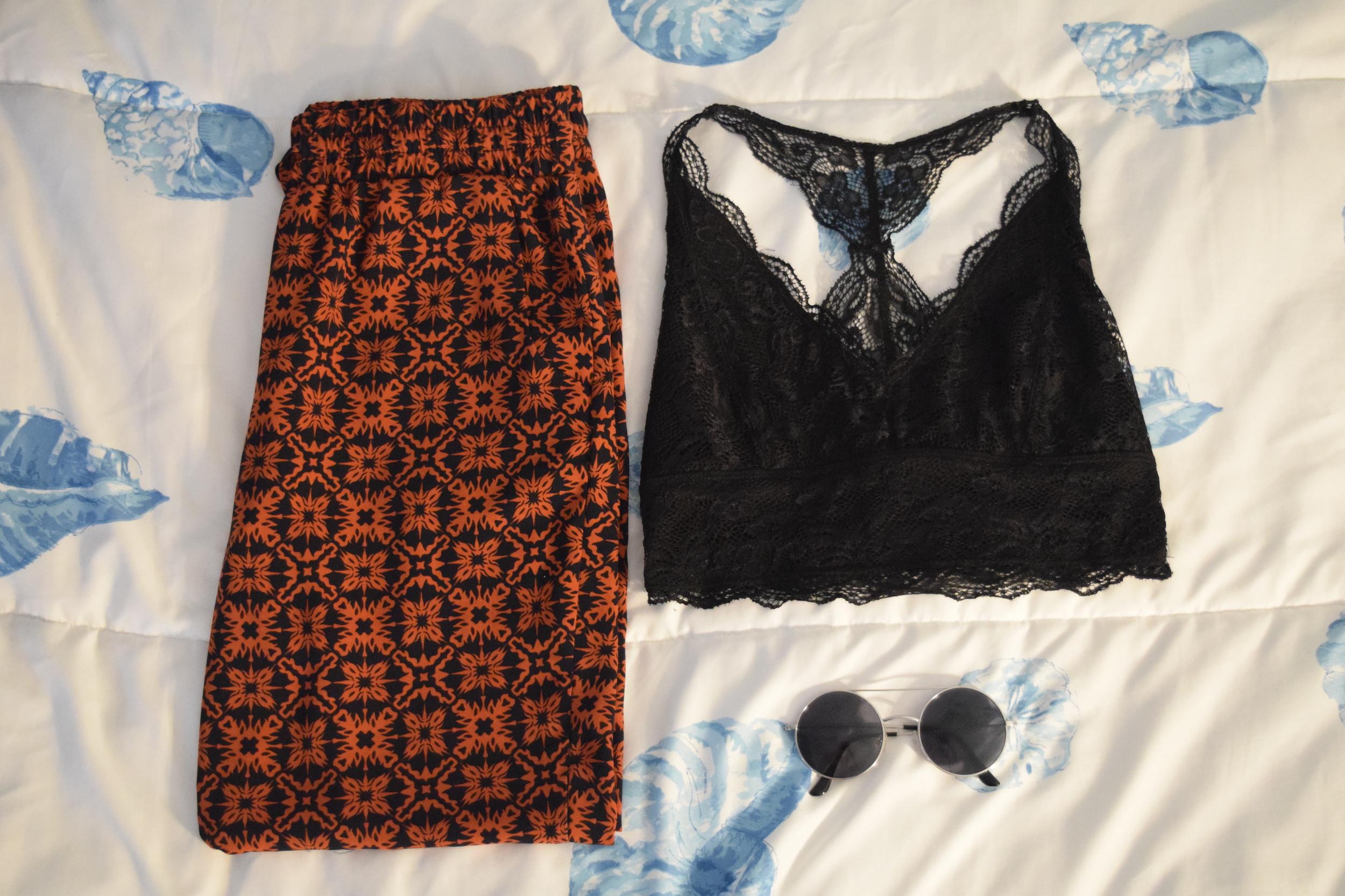 Bralette .  Pants .  Sunglasses  (similar)