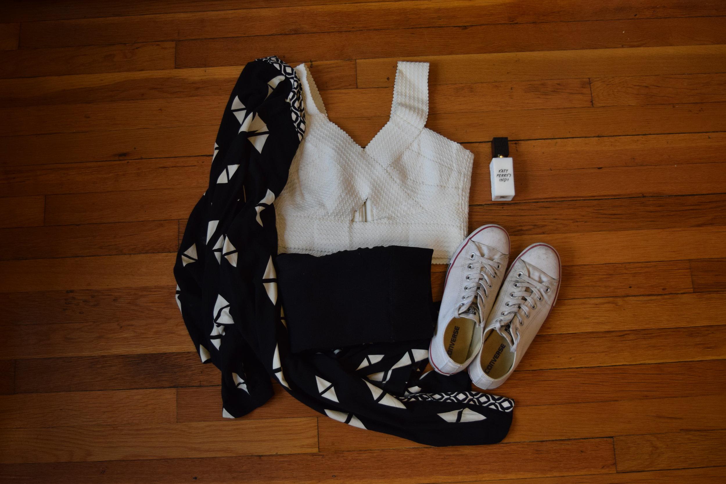 top (similar).  leggings .  kimono .  sneakers .  perfume .