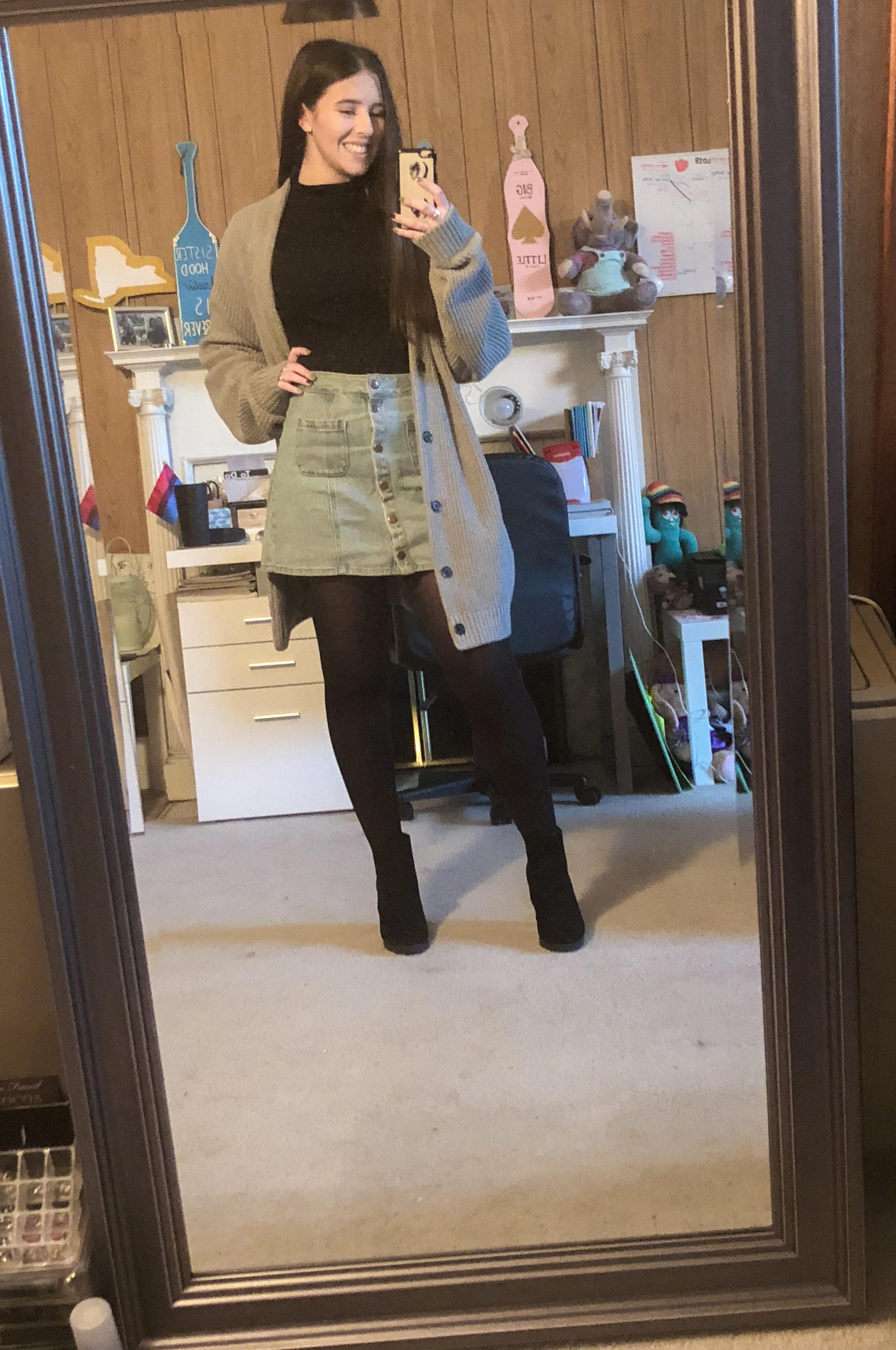 tights .  heels  (similar).