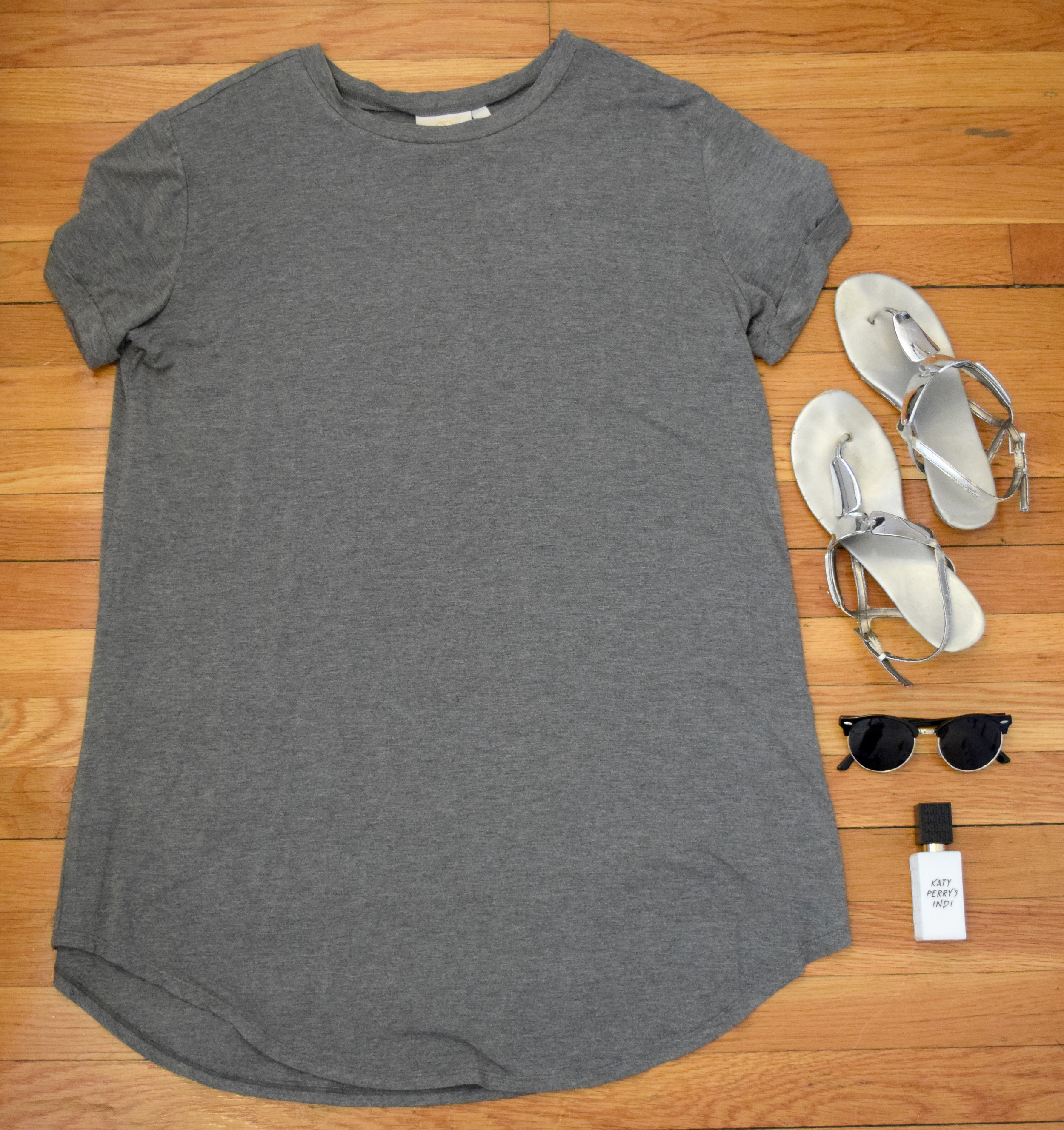 dress (no longer being sold by  Revelry ).  sandals  (similar).  sunglasses  (use my code CLUNKSTER25 for 25% off your order!).  perfume .
