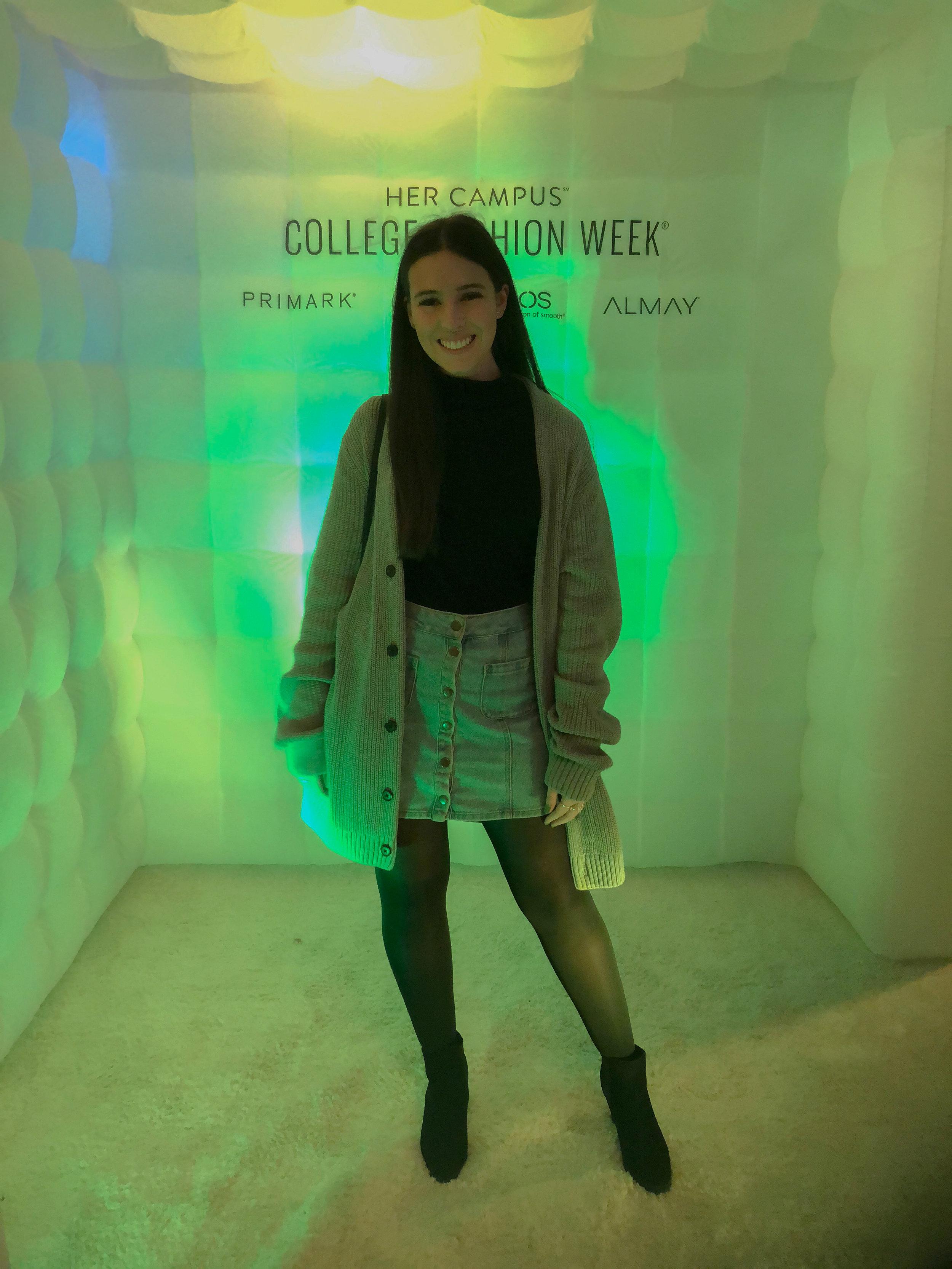 sweater .  turtleneck  (similar).  skirt  (similar).  tights .  shoes .