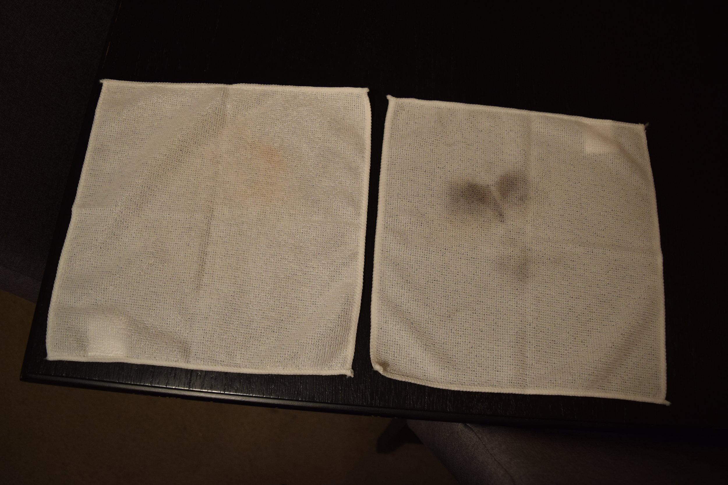 Glossier  towels