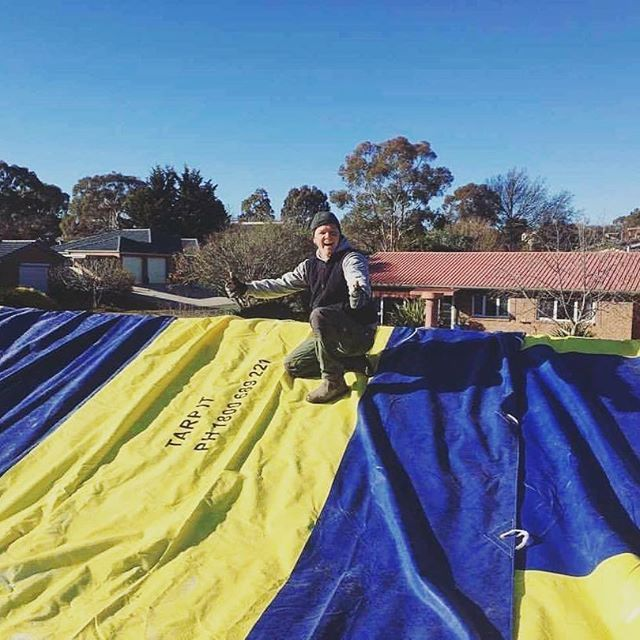 Our heavy duty tarps for hire are perfect for keeping out this winter weather during renovations & building.  Free Delivery to Sydney, Canberra & Adelaide. ☔️