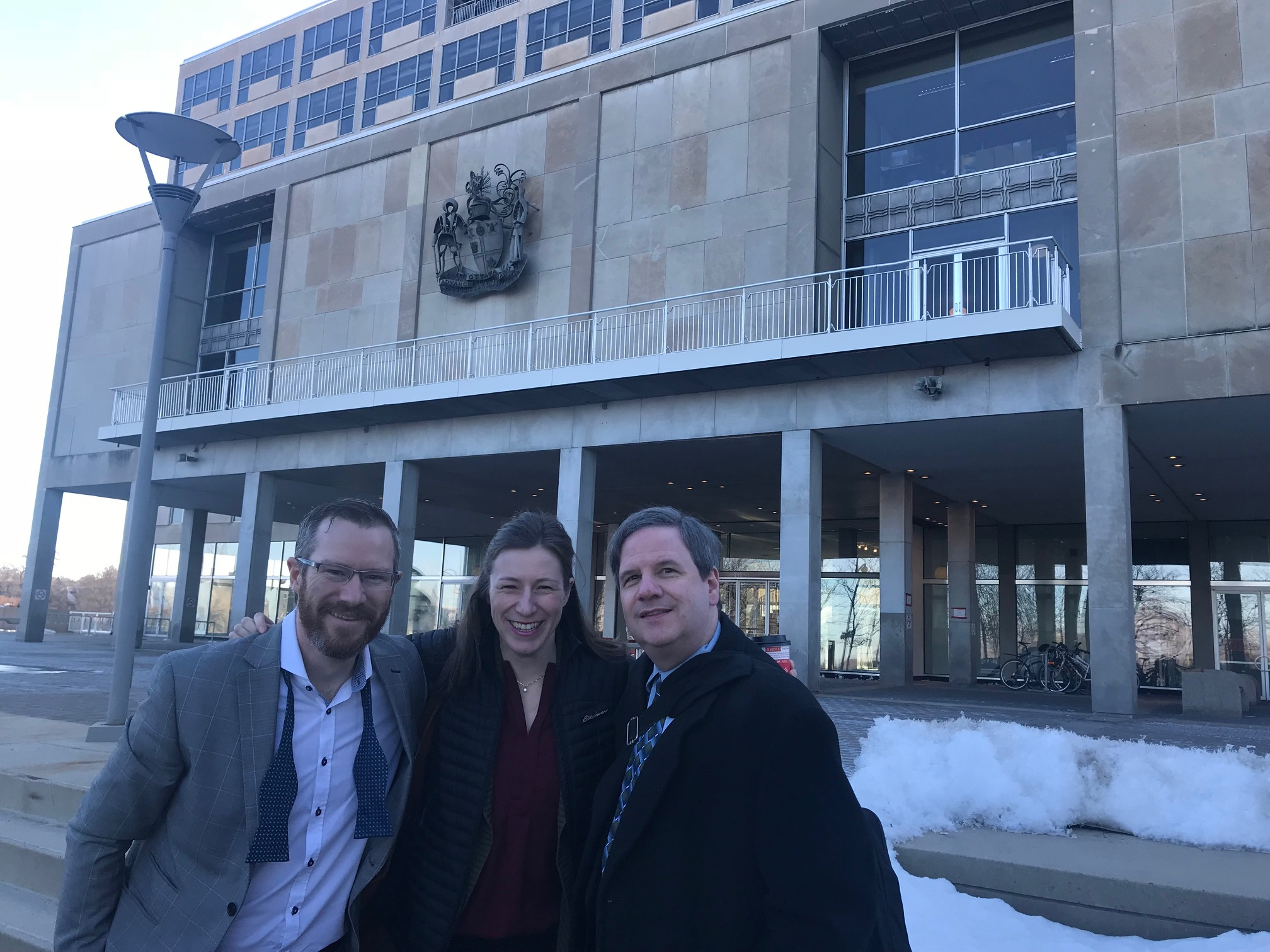 Joseph Devaney, Caitlin Butler and Hugh Neilson are getting ready to enter Budget Lock-up.