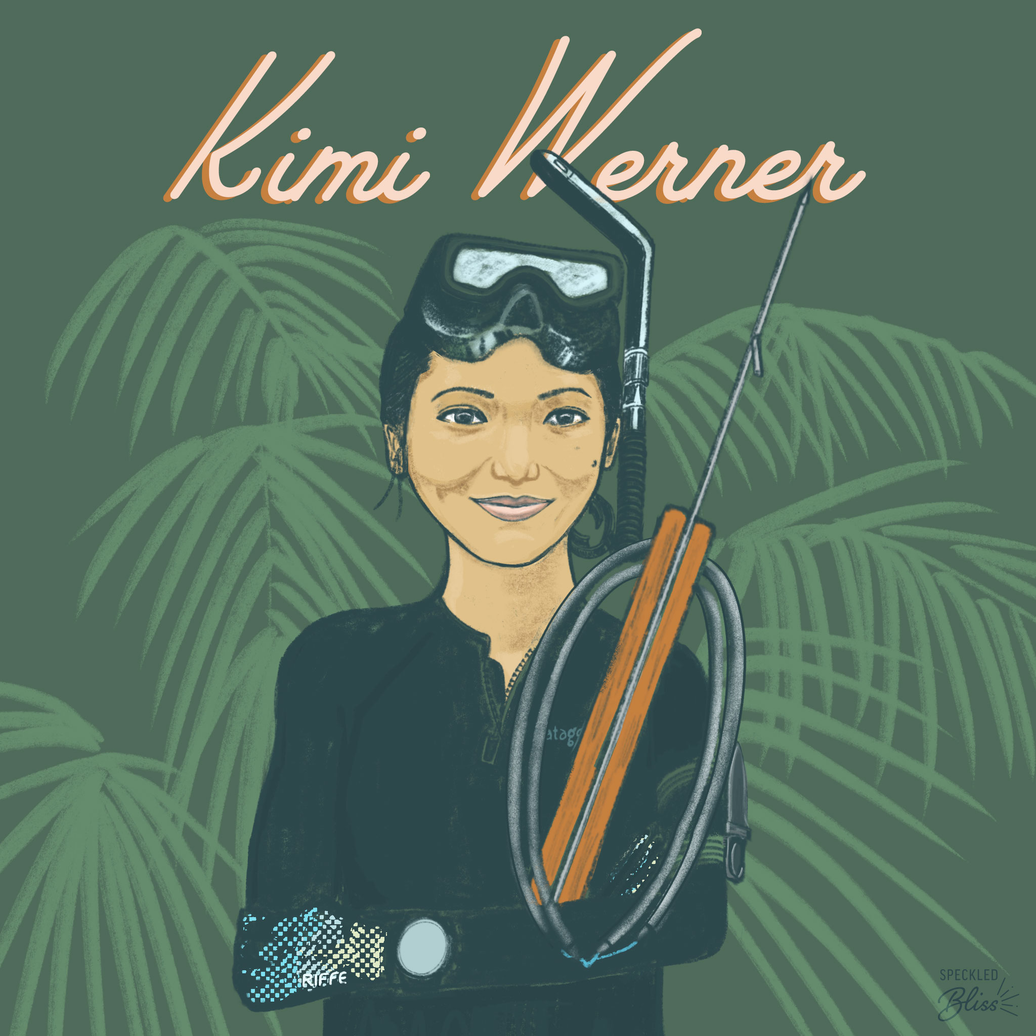 Meet Kimi Werner. US National Spearfishing Champion, Certified Culinary Chef, Award Winning Artist.   Kimi grew up off the grid in coastal Maui watching her father freedive for her family's primary food source. As she became an adult, she discovered her own passion for freediving.  What I admire about Kimi is that she takes her talent--with one breath, one drop, & one shot to get one fish--to provide sustenance for her family & community. She is a prime example of someone living a fulfilled life by regularly facing fears. With a deep appreciation for the ocean, she is geared up to help build a healthy future for our global community.  You can learn more about her story on  @Patagonia 's FISHPEOPLE documentary on  @Netflix  where they dive into six people whose lives were transformed by the sea.  Follow Kimi and her magical underwater adventures  @kimi_swimmy