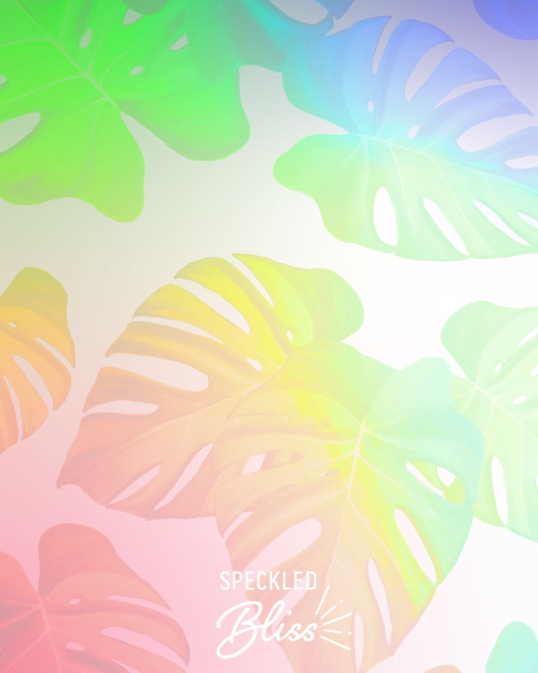 'Tropical Rainbow' Phone Wallpaper - Pretty up your phone with this colorful wallpaper.