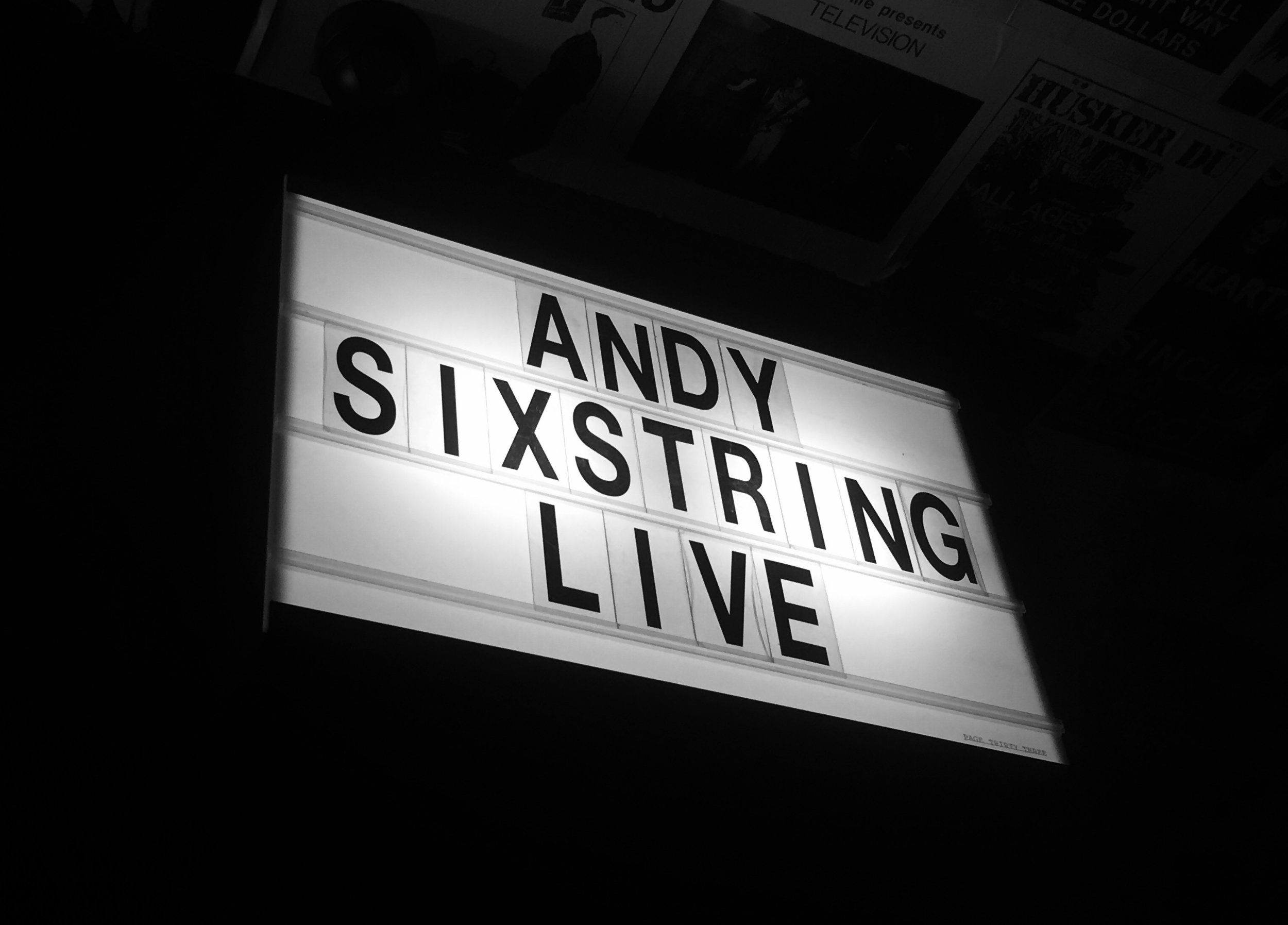 andysixstring live hanks pizza