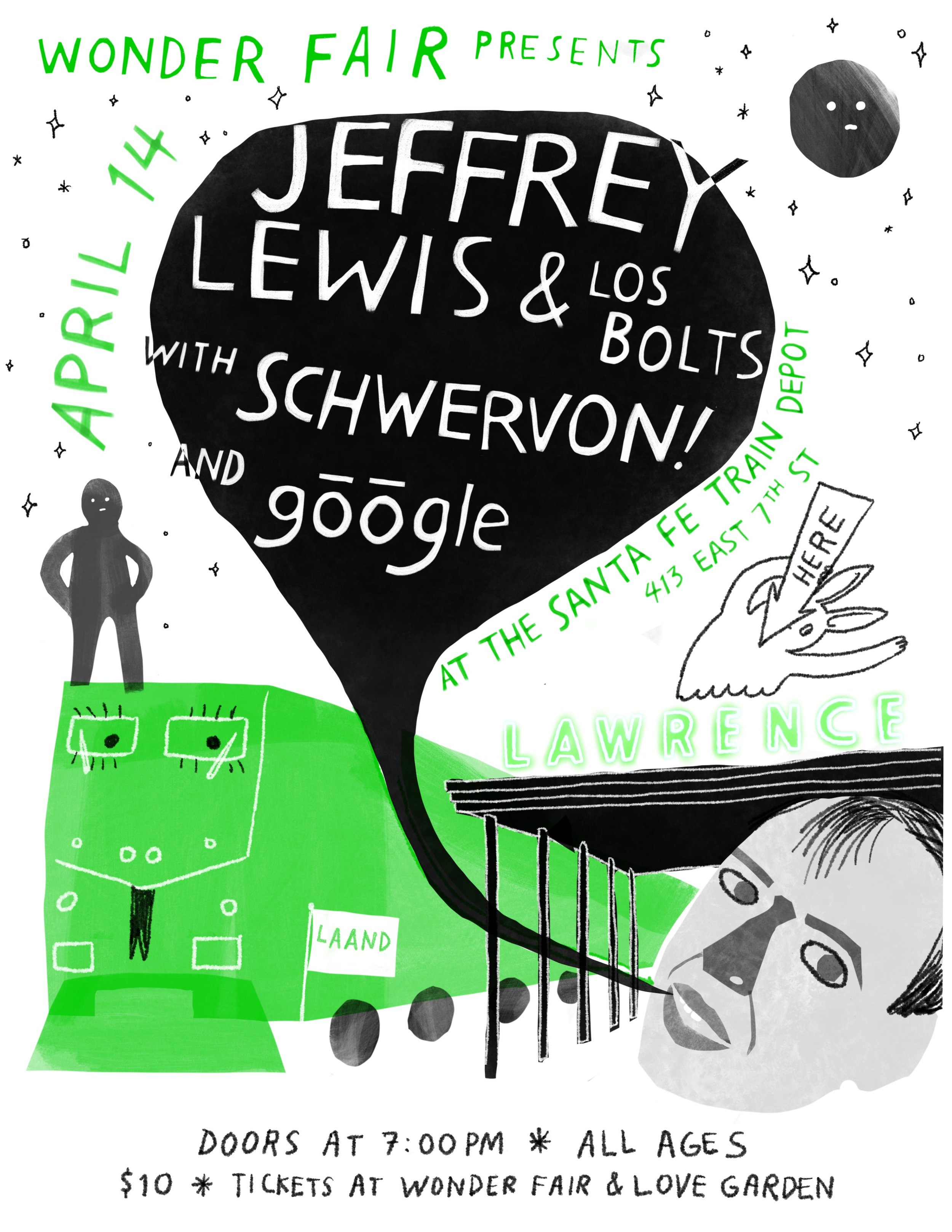 Jeffrey Lewis • 4.14.19 • Lawrence Train Depot