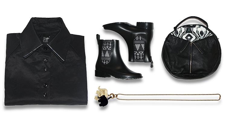 פריטים שליקטנו ויחכו לכן ביריד:תיק: קומפלט COMPLET BAGS. שרשרת: אוליס קי OLEES KEY נעליים: מל MEL.שמלה: סטלה אנד לורי STELLA AND LORI