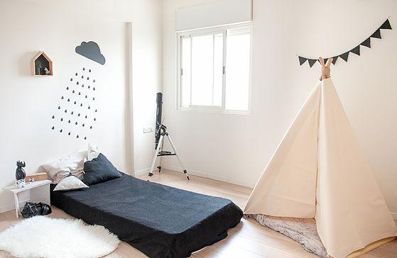 חדר ילדים מודרני, אביזרים, טקסטיל ואוהל טיפי להשיג בwww.hayo-haya.co.il