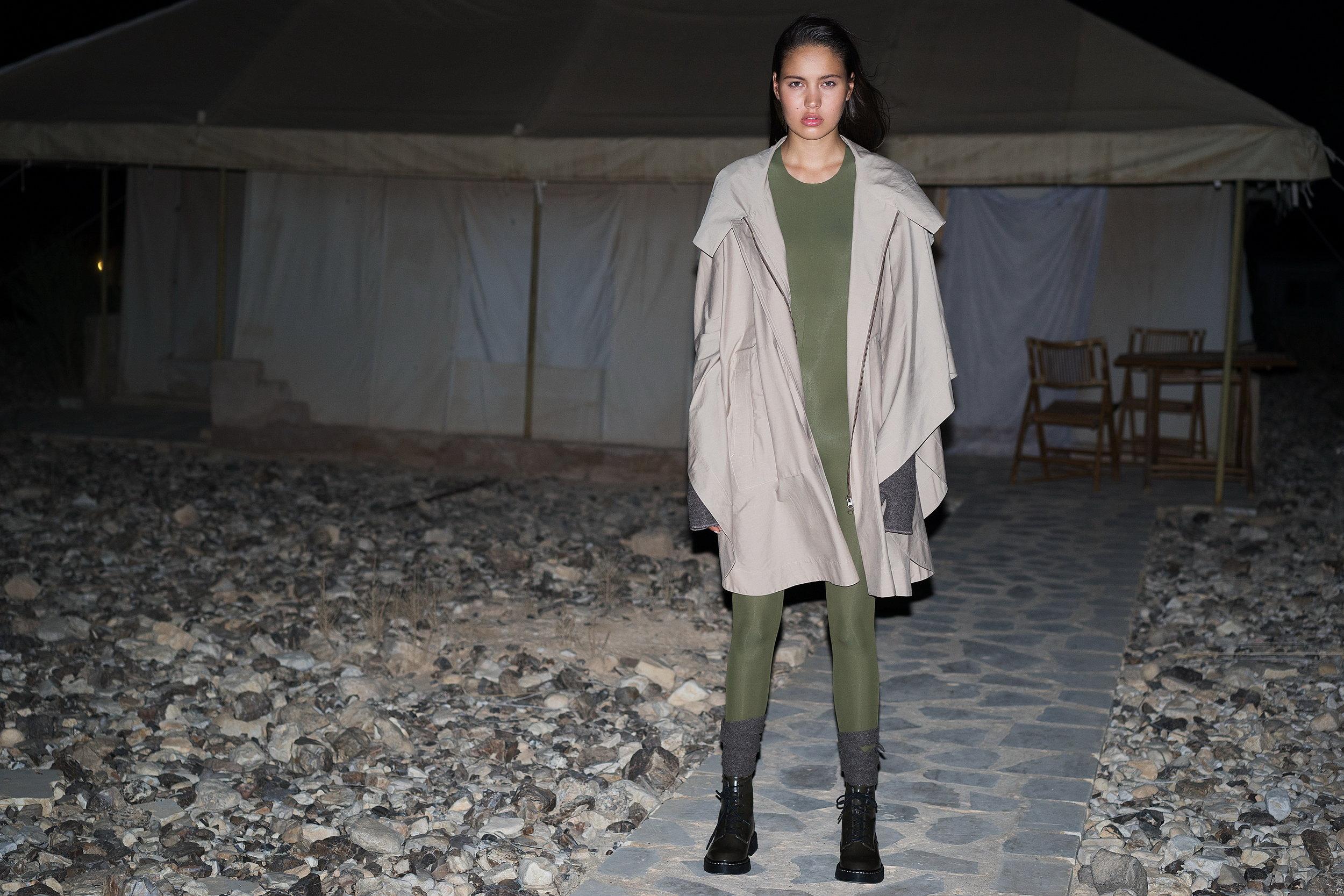 """הטרנד הצבאי עפ""""י בית האופנה מאיה נגרי (צילום יריב פיין וגיא כושי)"""