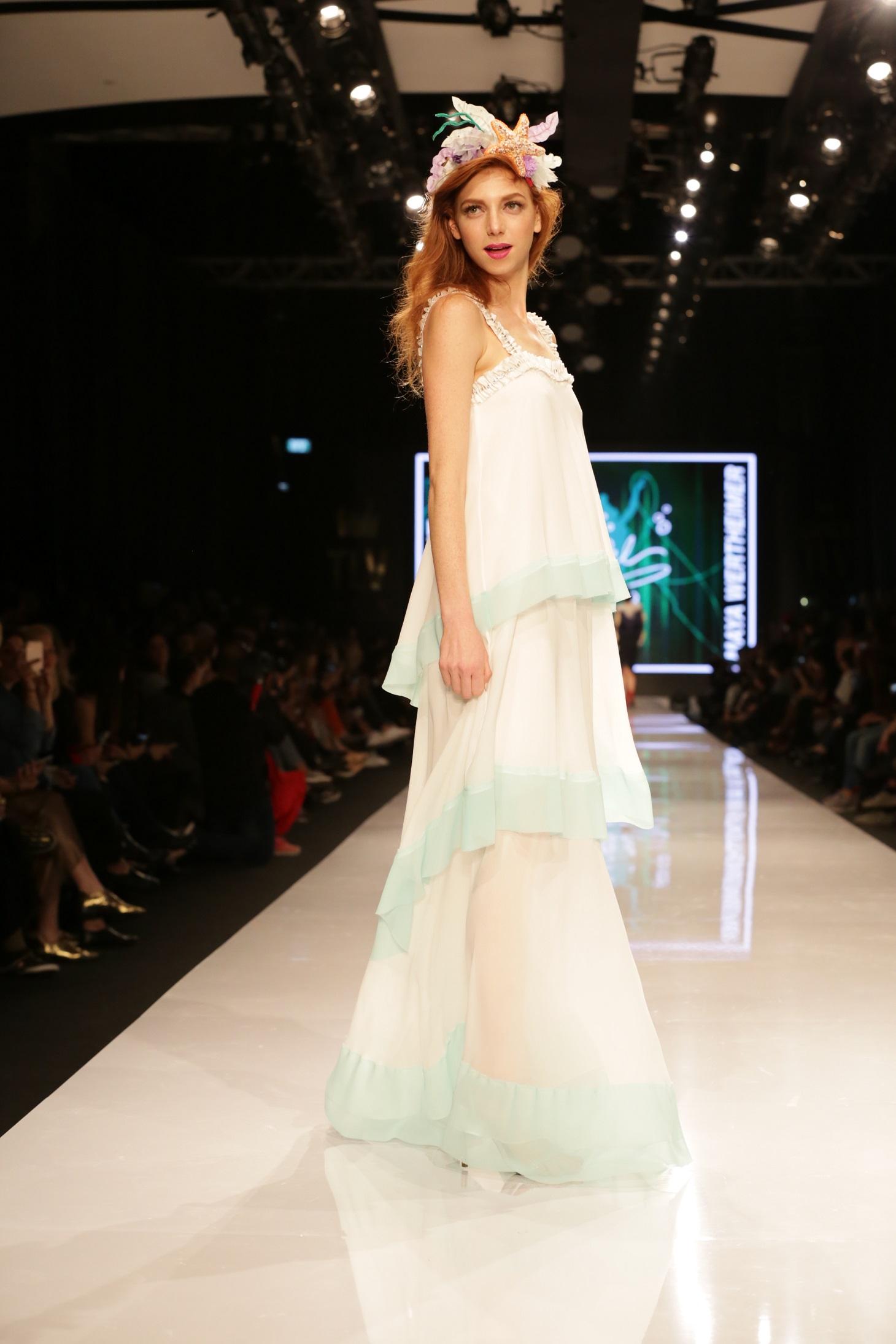 מאיה ורטהיימר בהשראת בת הים הקטנה של בית האופנה  משכית (צילום: אבי ולדמן)