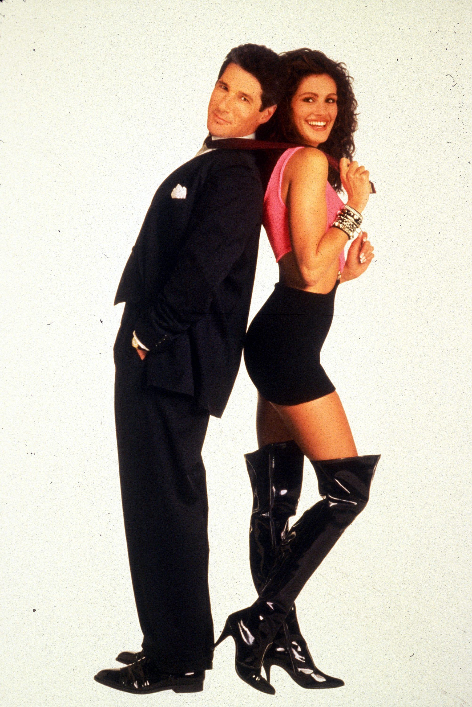 ג׳וליה רוברטס במגפיים הכי רותחים של העונה, בכרזת הסרט ״אישה יפה״, 1990 (צילום: באדיבות yes)