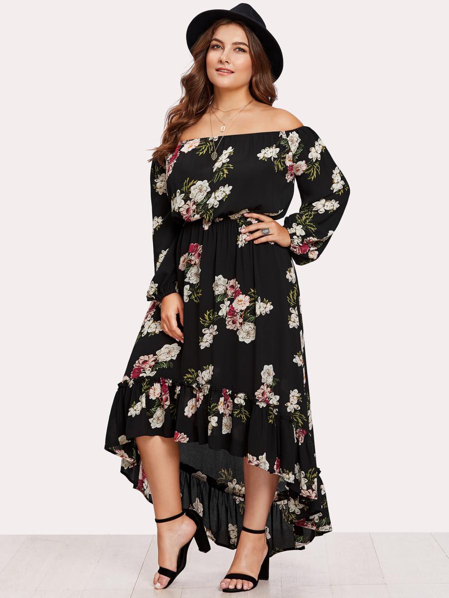 שמלת מקסי פרחונית SHEIN