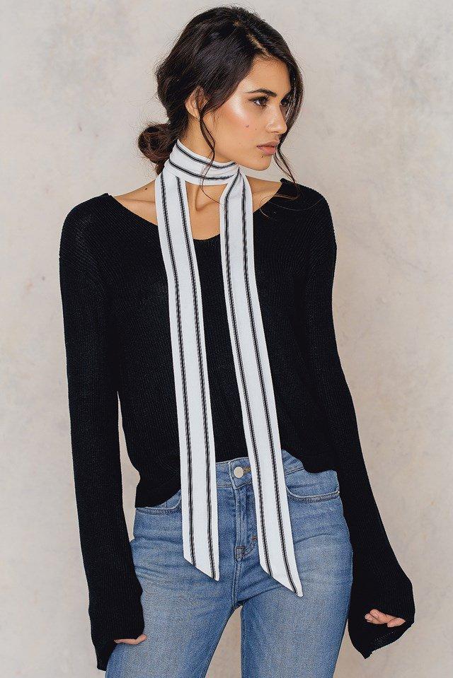 Pinstriped Skinny Scarf 11.98$