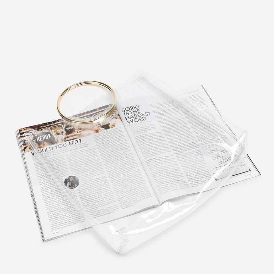 תיק יד פלסטיק שקוף טבעות 18$