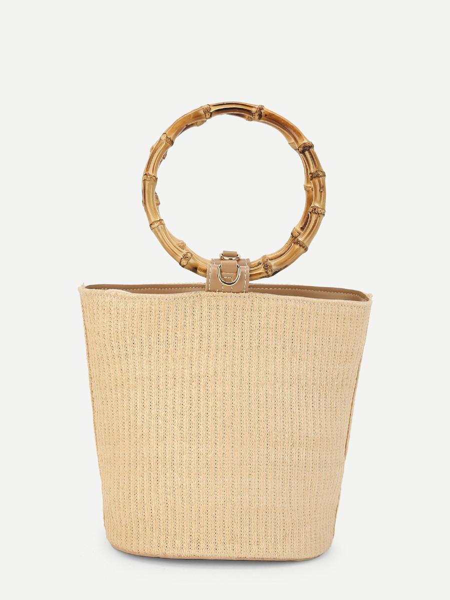 תיק דלי - תיק ידיות דמוי עץ, בגוון טבעי, עם רצועות מתחלפות. מגיע בשני גוונים, עץ כהה ועץ טבעי (בתמונה).קליק לפרטים