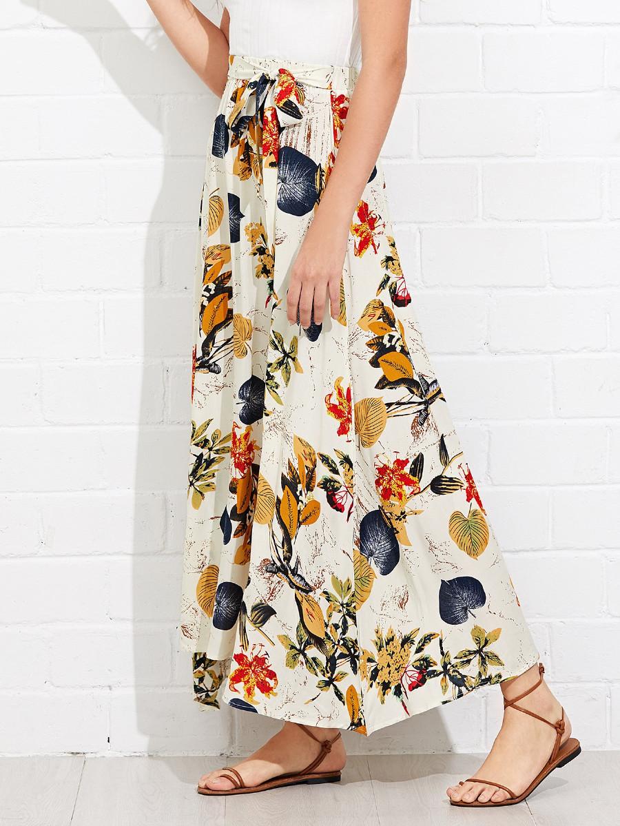 חצאית מקסי קשירה - חצאית מקסי פרחונית עם חגורת קשירה, מגיעה בשישה גוונים שונים.מידות: S-XLקליק לפרטים