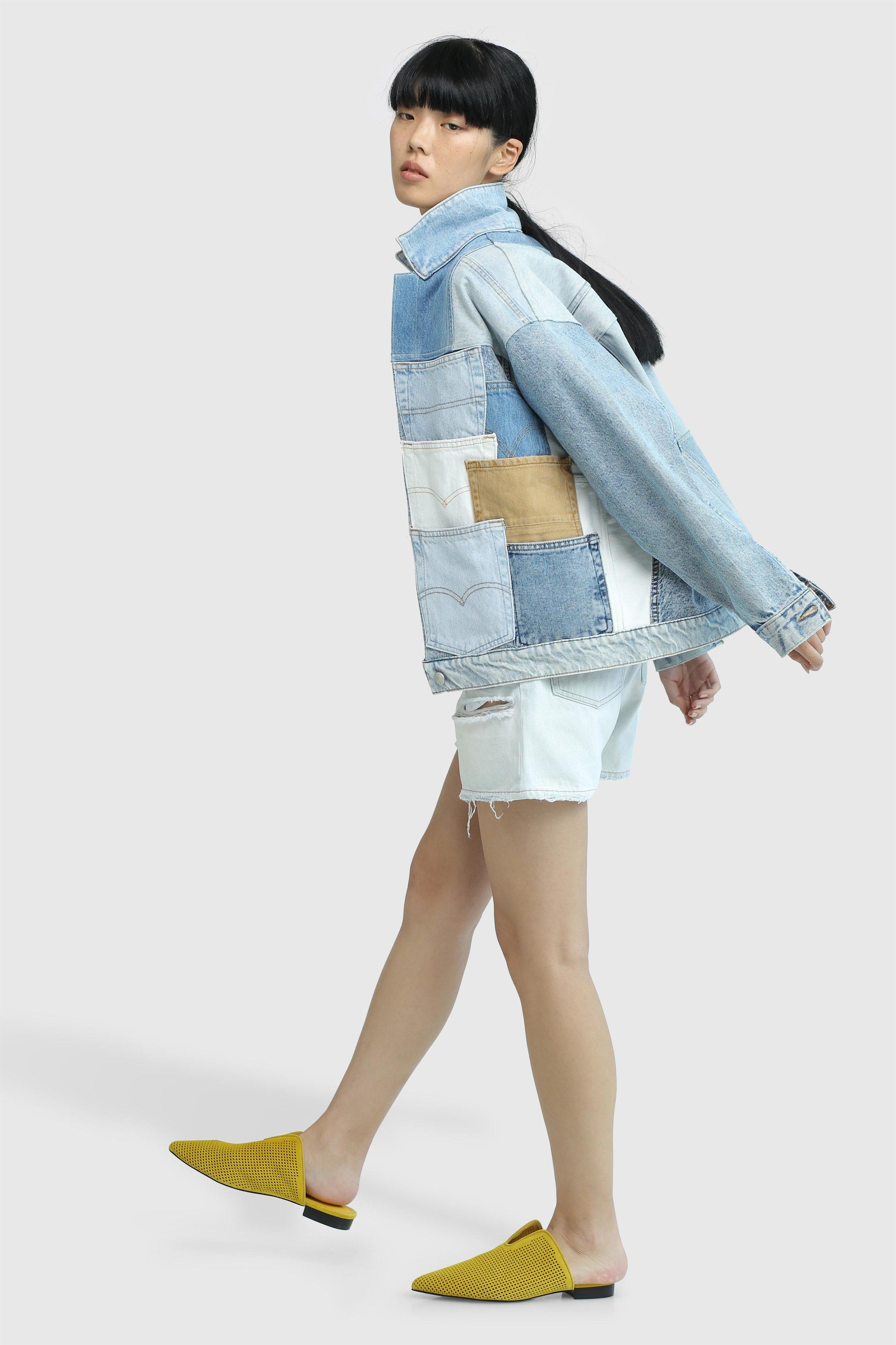 אוצרות וינטג' של קלווין קליין, טומי הילפיגר וליווייס מורכבים מחדש עם ג׳ינסים של צ'יפ מאנדיי, מתוך קולקציית Transformed, כריסטינה דיקנס ל- Foreign Denim ו- Belle&Sue (צילום: זהר שטרית)