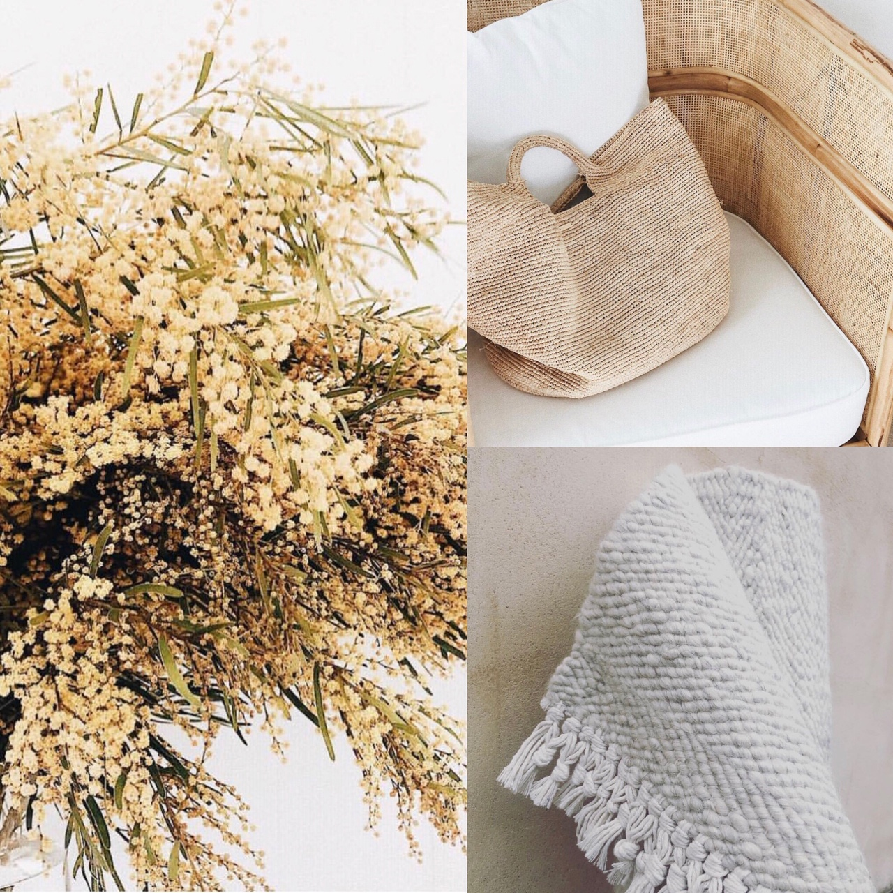 Summer textures and warm tones with Coral & Hive white karakul + Sunday Lane photography.