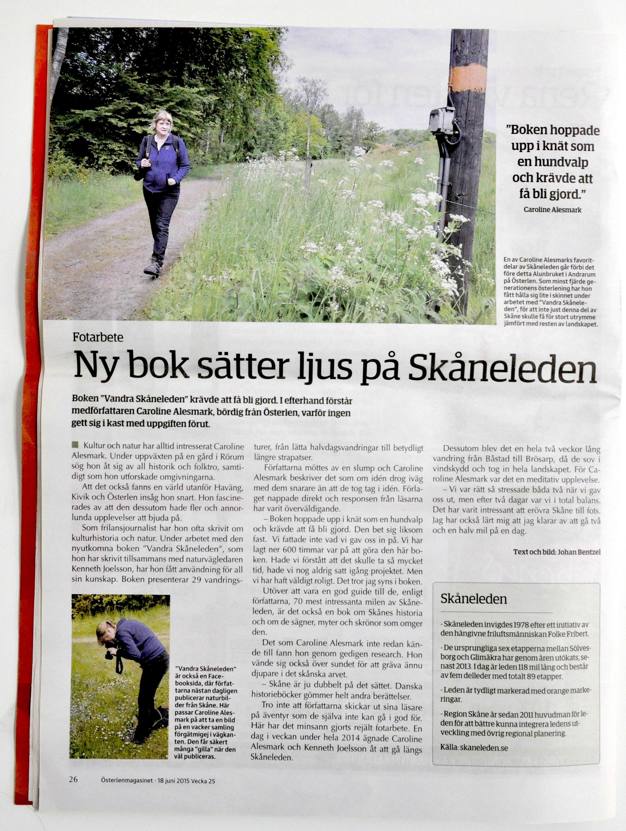 Vandra Skåneleden Österlenmagasinet 2015.jpg