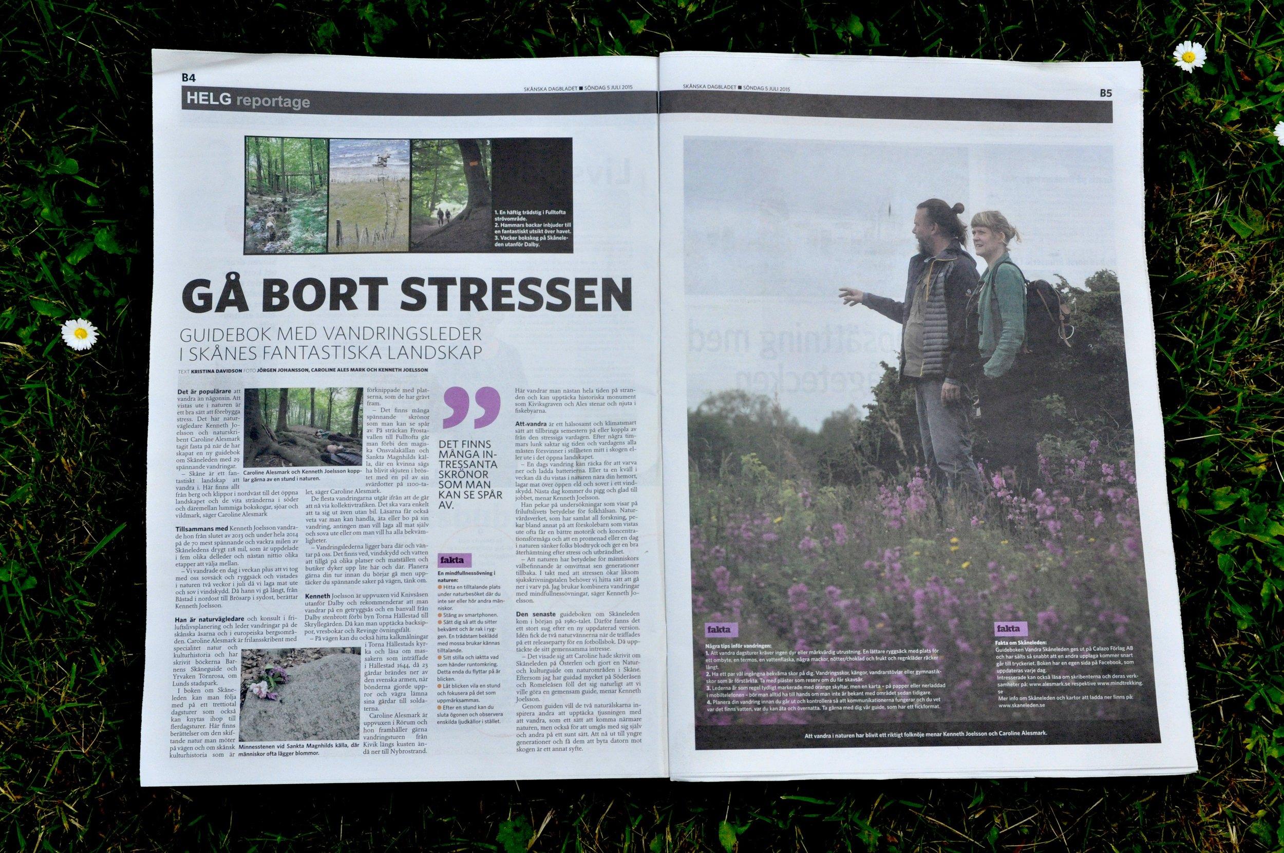 Vandra Skåneleden 2015 Skånska Dagbladet.jpg