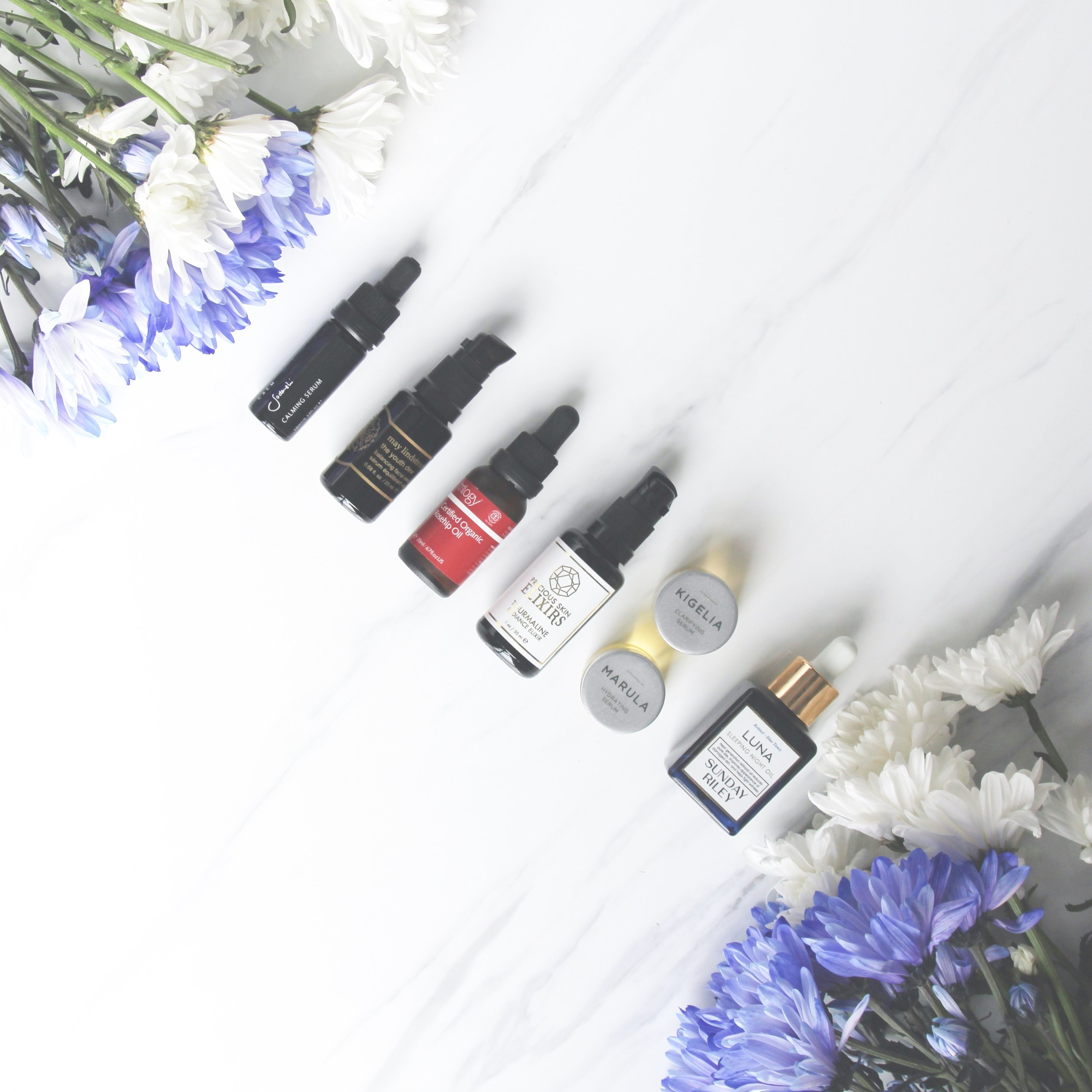 A small selection of my facial oil collection.