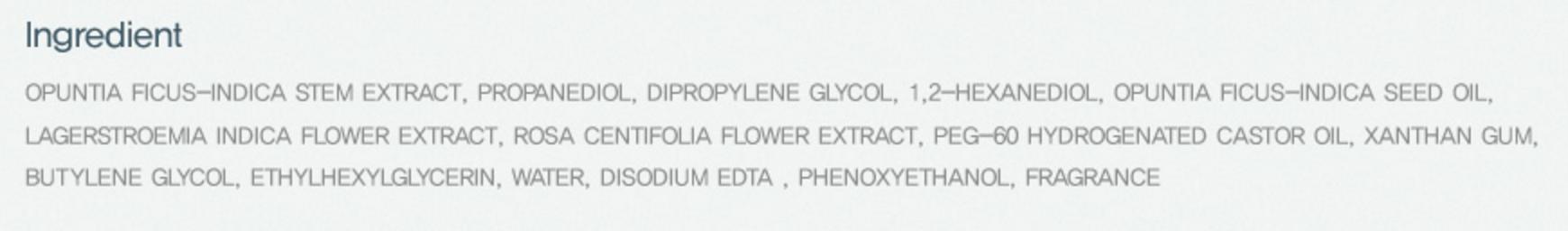 Ingredients list for the Huxley Toner taken from http://www.huxley.co.kr/