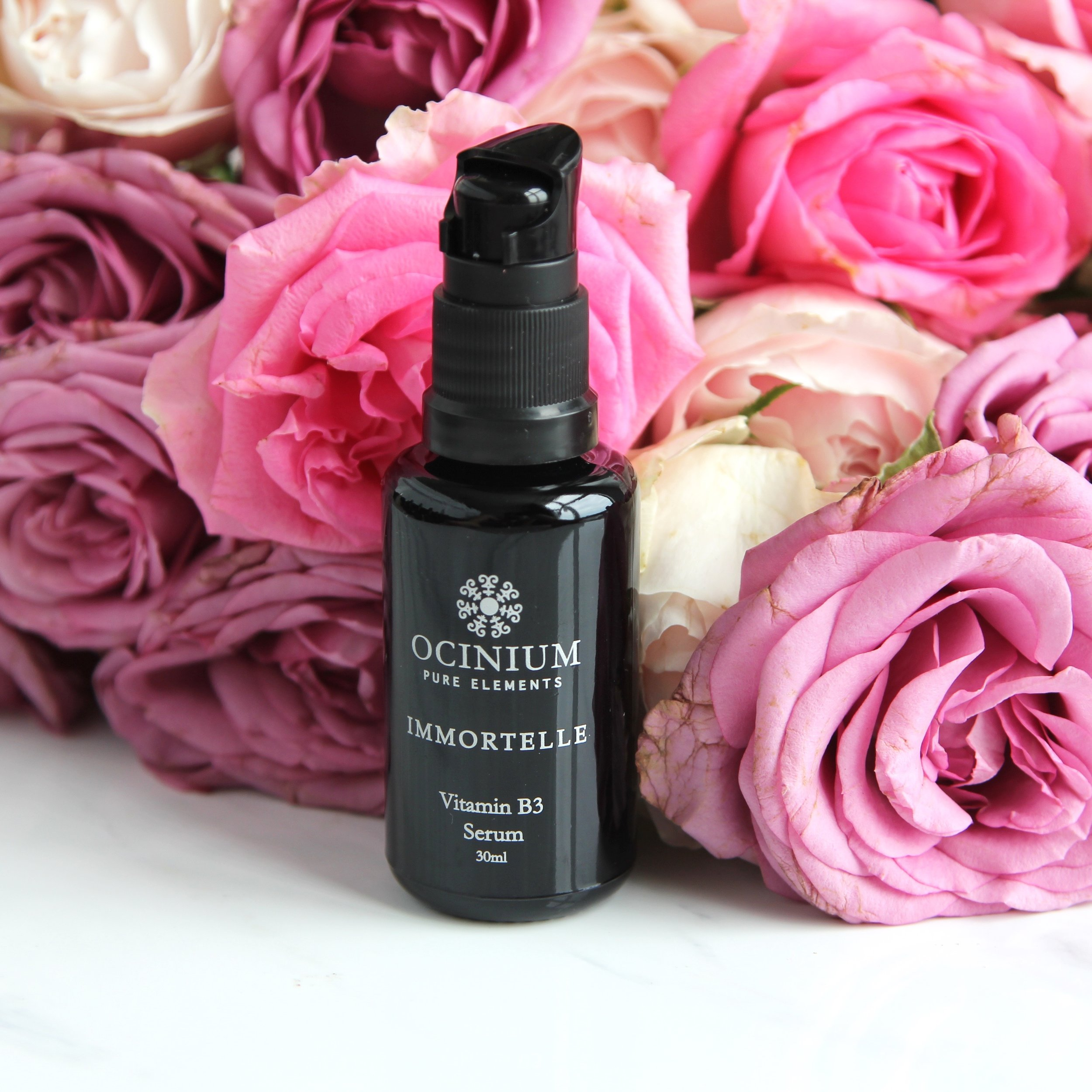 Immortelle B3 Serum is a weightless serum with a concentrated complex of Niacinamide (Vitamin B3) to boost the skins immune response, promote cellular repair and target hyper- pigmentation, restoring the skin's clarity and tone. Key botanical extracts of Gotu Kola, Calendula and Chamomile are well known for their therapeutic benefits to reduce inflammation, increase circulation, facilitate collagen production and healing of the underlying skins structure - Cassnndra Hilton