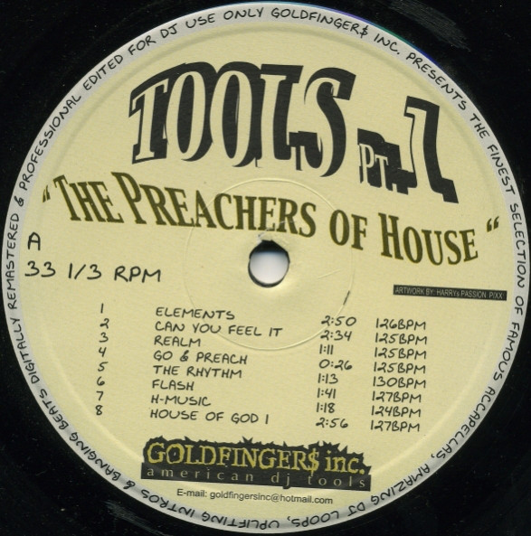 """Goldfinger$ Inc. """"The Preachers Of House"""" Vol. 1 (there were 5 volumes in total)."""