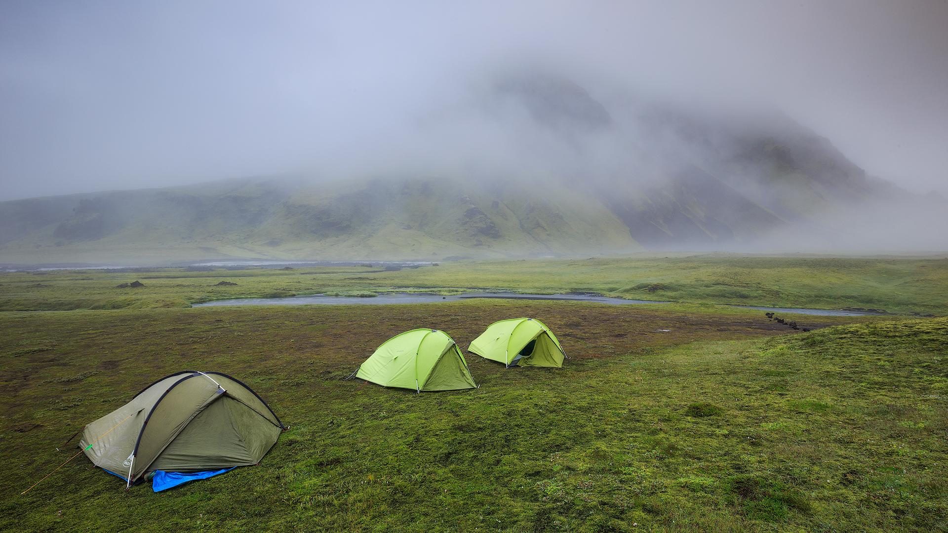 Onze kampeerplaats