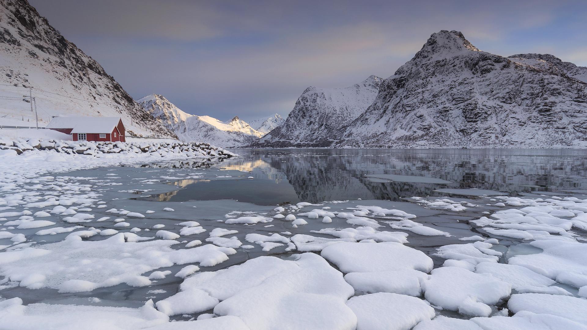 Verse sneeuw in 1 van de fjorden!