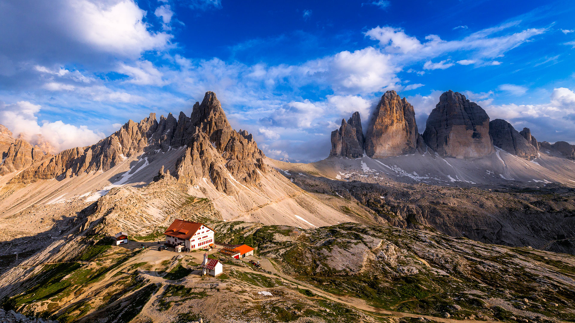 De berghut en de Tre Cime di Lavaredo