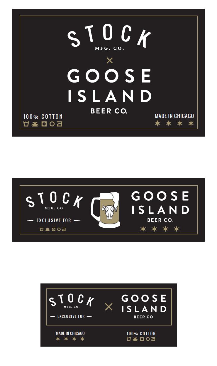 Goose Island Apparel and Uniform Inside Tag Design