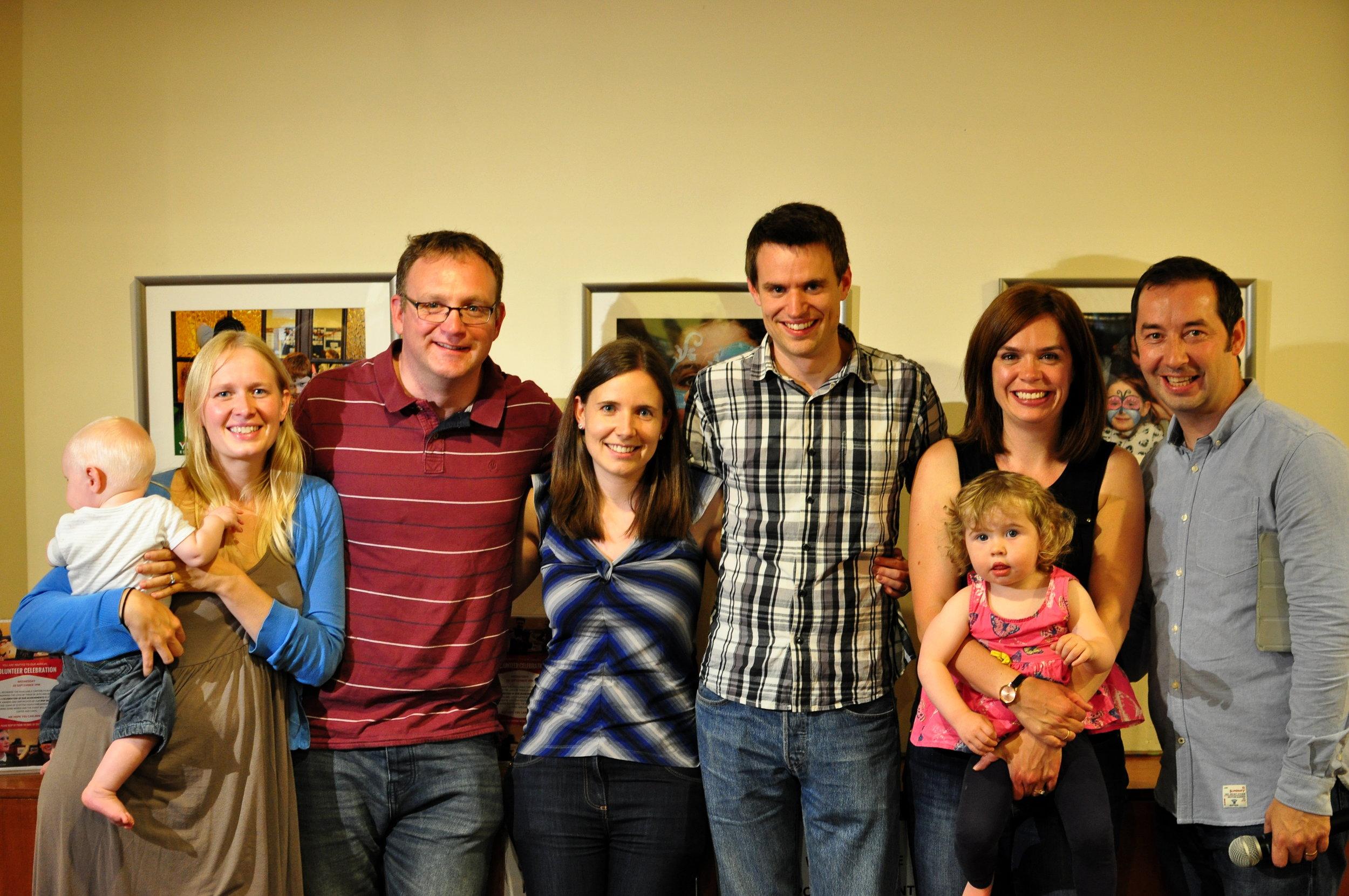 Left to right: Heather & Kenny McGibbon, Laura & Andrew Duckering, Rosalynd & Athole Rennie. Photographer: Josh Ahmed