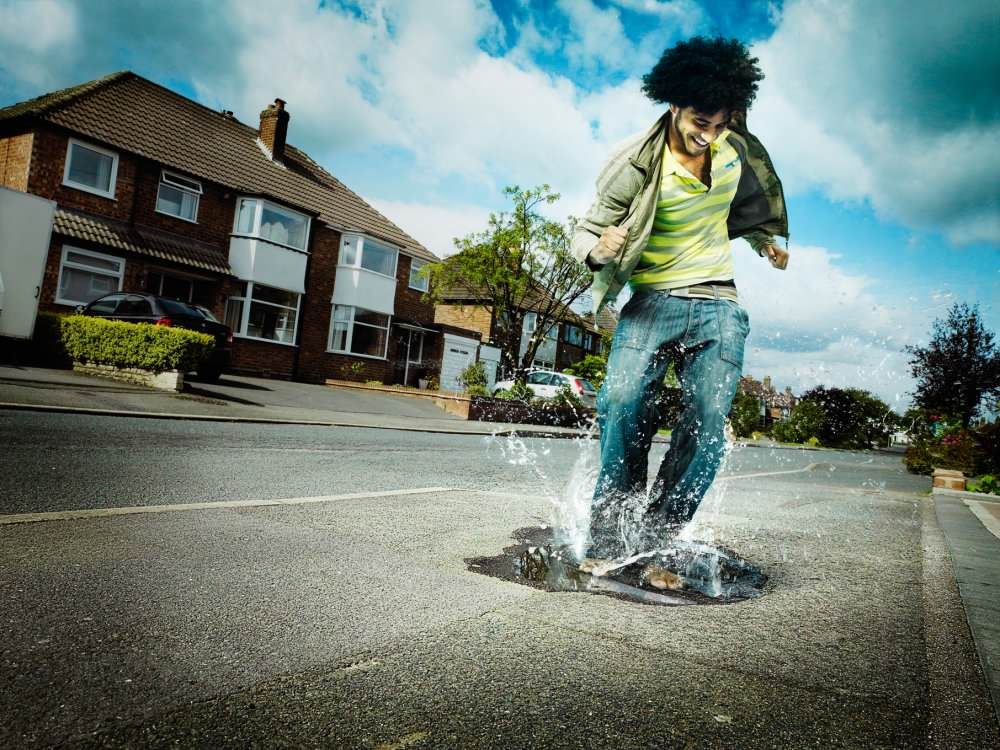 Matt Lee Puddle Splashing