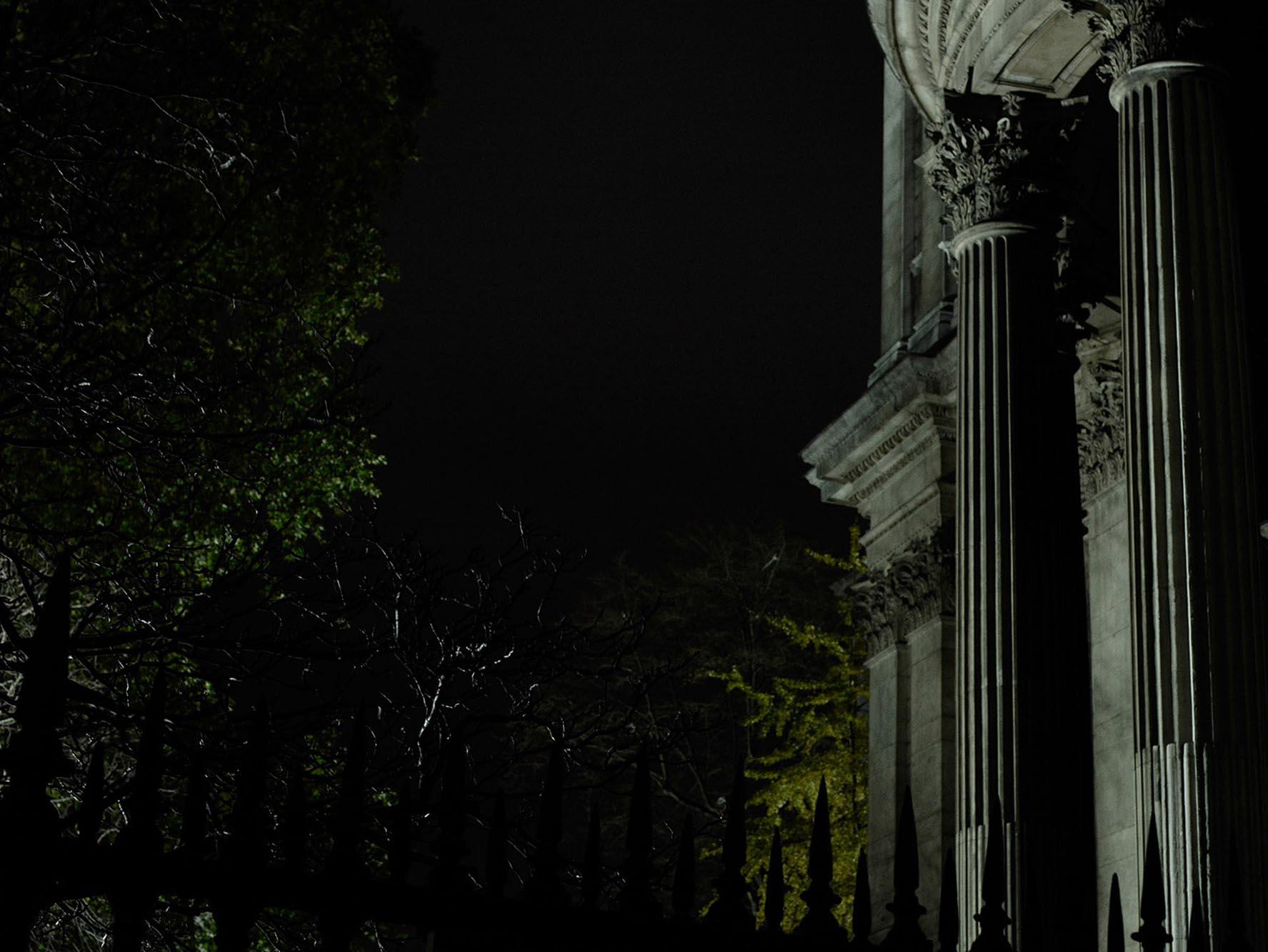 Noel McLaughlin Historic Building at Night