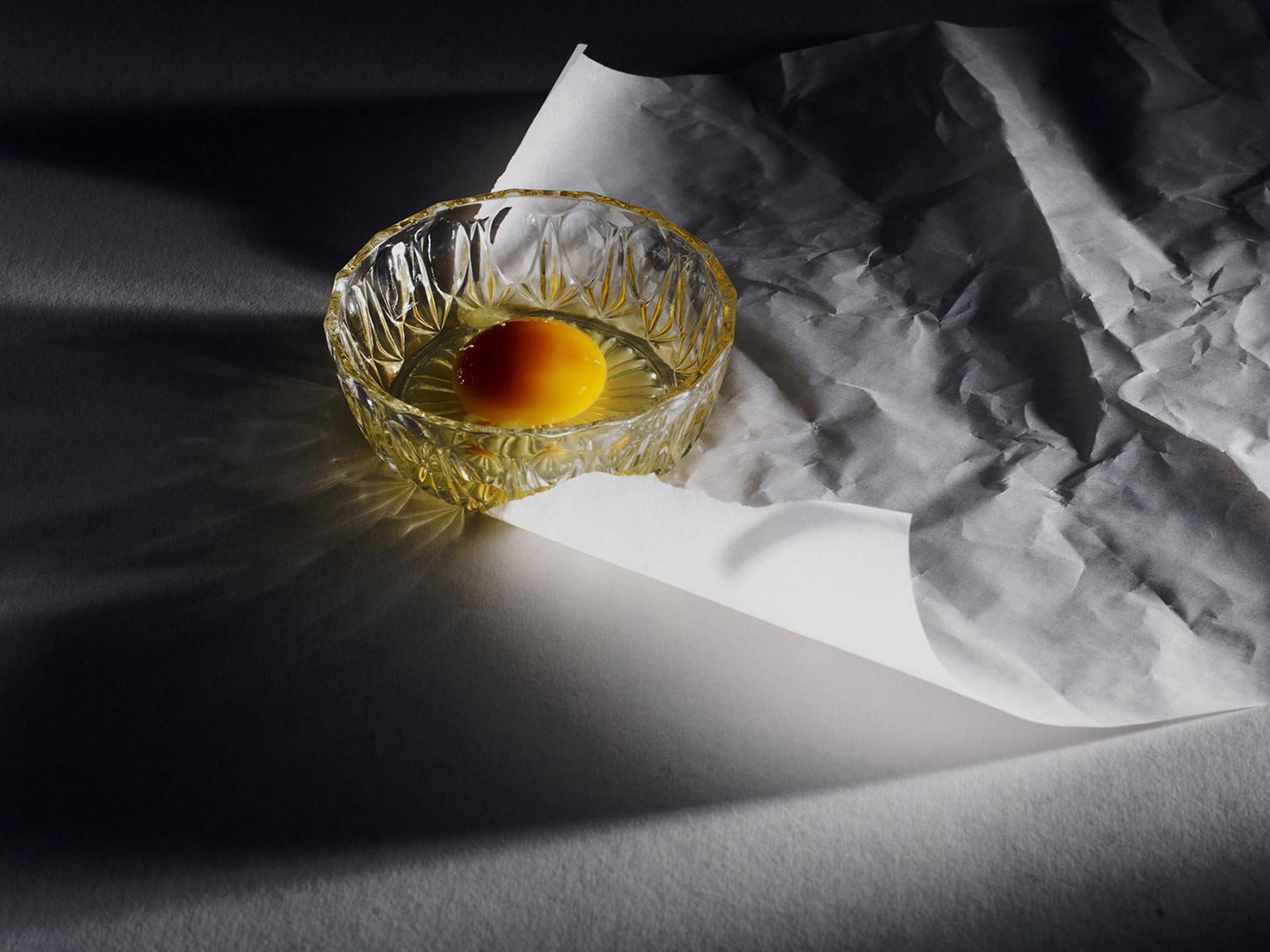 Noel McLaughlin Raw Egg in Glass Bowl